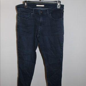 Levi's 711 Skinny Jeans Dark Wash Size 30